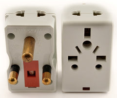 Universal 2-Outlet Plug Adapter for South Africa with Fuse Protection