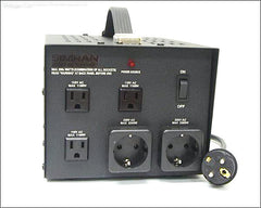 2300 Watts Step Up/Down Transformer with American Grounded Plug