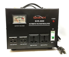 SVR-2000 Automatic Voltage Regulator with Built-in 110v-240v Up Down Transformer - 2000 Watt