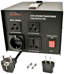 SIM 3000 - Step Up/Down Voltage Transformer 3000 Watts - CE CERTIFIED
