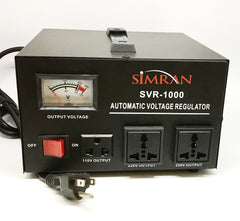 SVR-1000 Automatic Voltage Regulator with Built-in 110v-240v Up Down Transformer - 1000 Watt