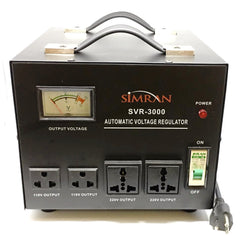 SVR-3000 Automatic Voltage Regulator with Built-in 110v-240v Up Down Voltage Transformer - 3000 Watt