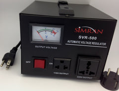 SVR-500 Automatic Voltage Regulator with Built-in 110v- 240v Up DownVoltage Transformer - 500 Watt