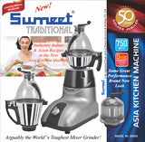 Sumeet Asia Kitchen Machine Mixer Grinder 750 Watt - 110 Volt