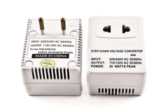 VM-250R Step Down Voltage Converter 50 Watts for International Travel to 220 Volt Countries with Fuse Protection