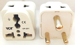 VP-201W Two Outlet Grounded Universal Plug for India & more CE Certified RoHS Compliant