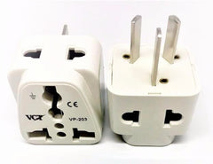 VP-203W Two Outlet Universal Plug Adapter for Australia, New Zealand and More CE & RoHS Compliant