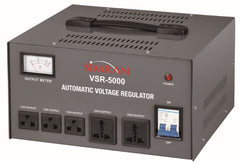 VSR-5000 Deluxe 110 V to 220/240 V Two Way Step UP Down Voltage Transformer with Automatic Voltage Regulator / Stabilizer