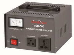 500 Watt Voltage Converter Transformer with Built-In Power Regulator Stabilizer