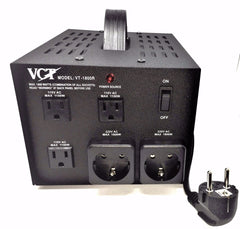 VT1800R - Step Up / Down Transformer With German/Euro Plug 1800 Watts