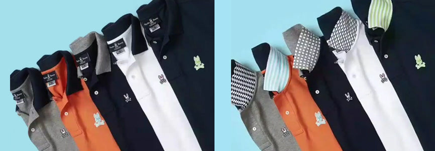 psycho bunny polos with flipped collar