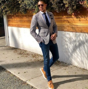 Man in jeans and blazer