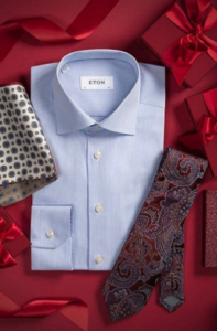 Shirt and tie on red background