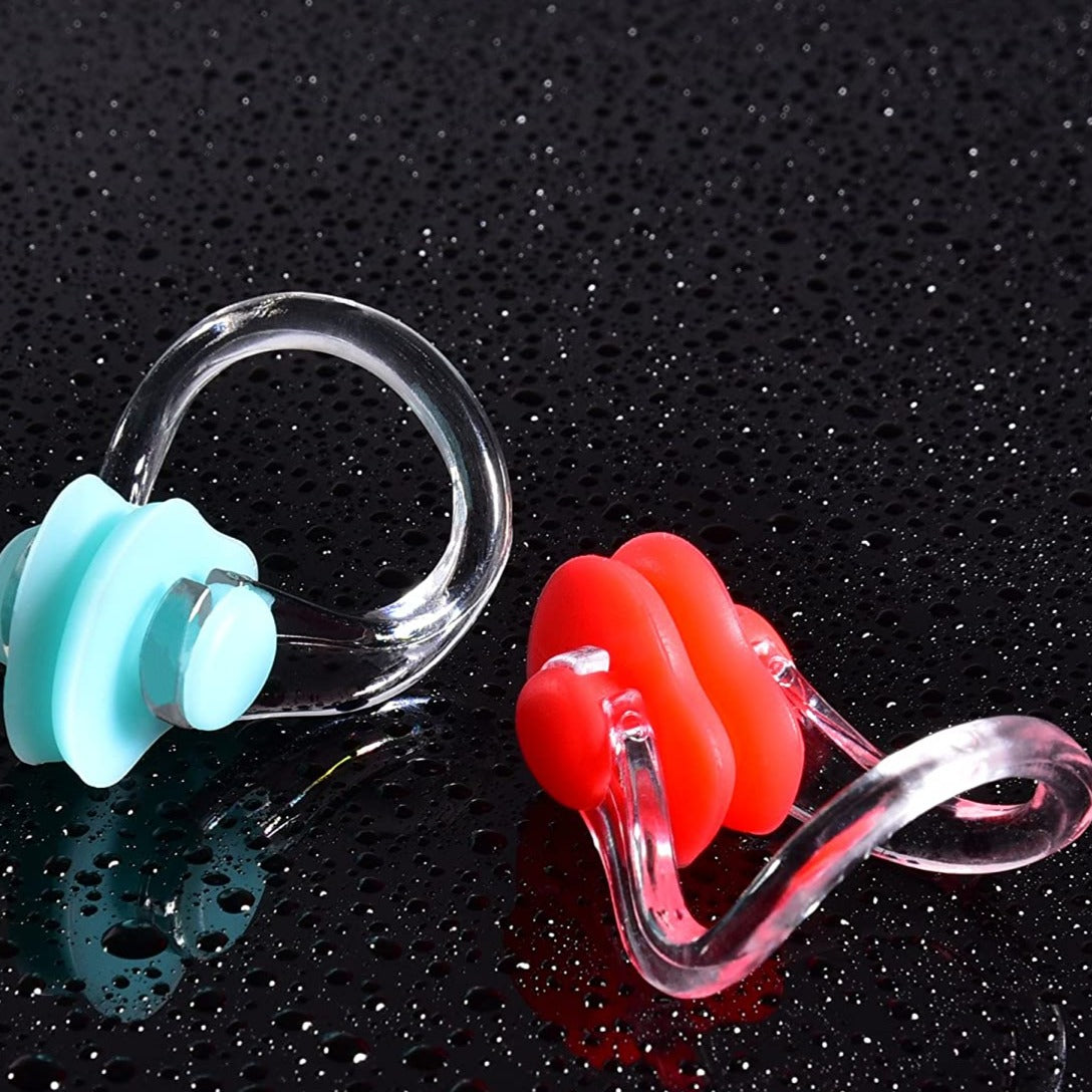 Durable No-Skid Soft Silicone Steel Wire Nose Clip for Swimming Diving foA/_hg
