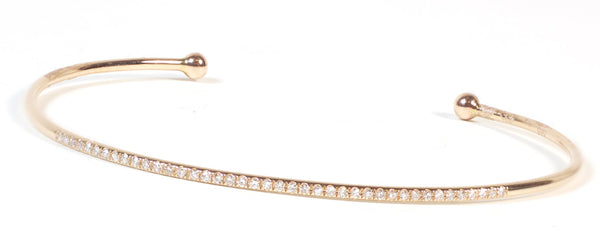 Delicate Diamond Cuff - Rose Gold