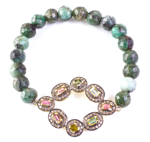 Precious green stretch bracelet