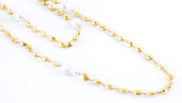 "36"" Freshwater pearl necklace"