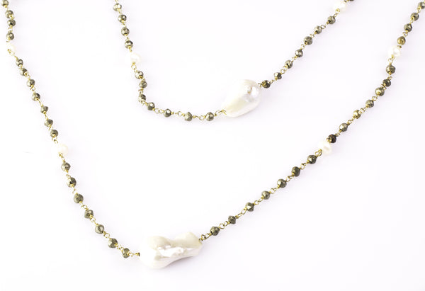 "34"" Freshwater pearl necklace"
