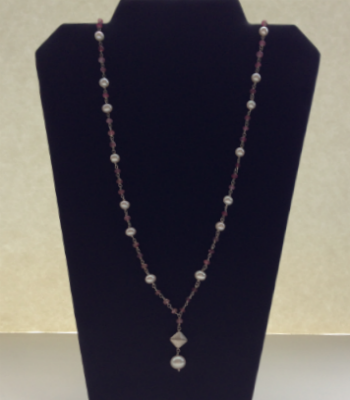 Ruby & Fresh Water Pearl Necklace