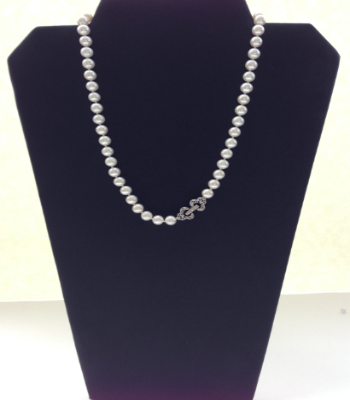 Classic Fresh Water Pearl Necklace with Crystals