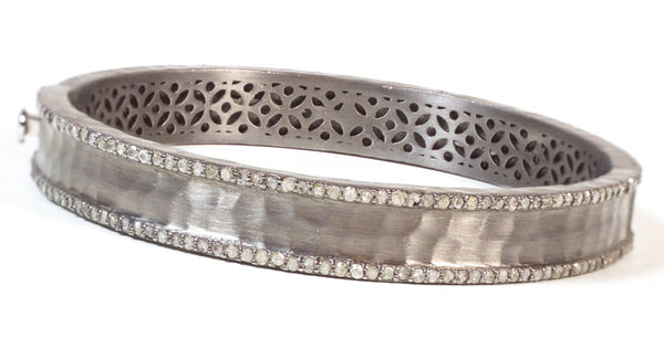 Diamond Silver Bangle