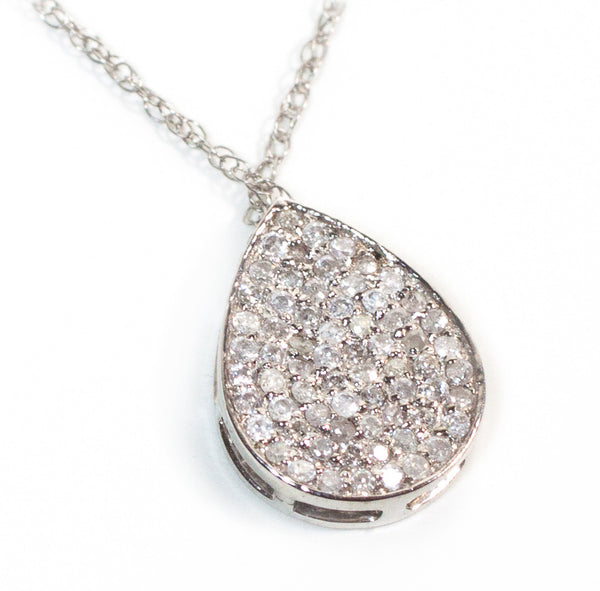 Pear Diamond Drop Necklace