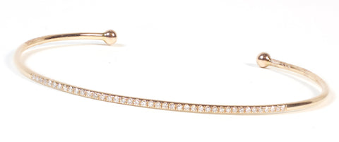 Delicate Diamond Cuff - Yellow Gold