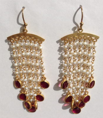 Chandelier Pearl Earrings