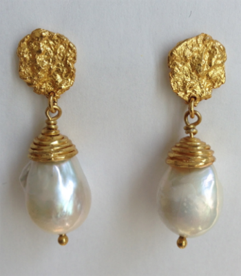 Fresh Water Pearl Drop Earrings