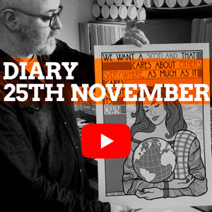 Video diary: print chat and a sale announcement