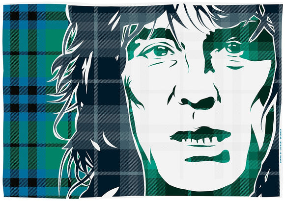 Alex Harvey on Keith ancient tartan – poster - Indy Prints by Stewart Bremner