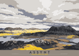 Assynt: Suilven & Cul Mor – giclée print - grey - Indy Prints by Stewart Bremner