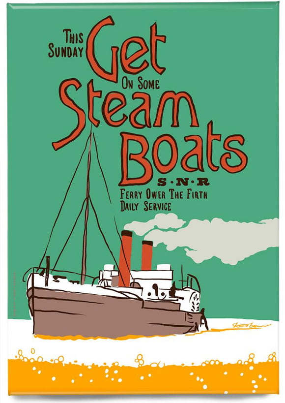 Get steam boats – magnet - Indy Prints by Stewart Bremner