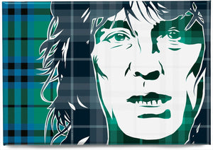Alex Harvey on Keith ancient tartan – magnet - Indy Prints by Stewart Bremner
