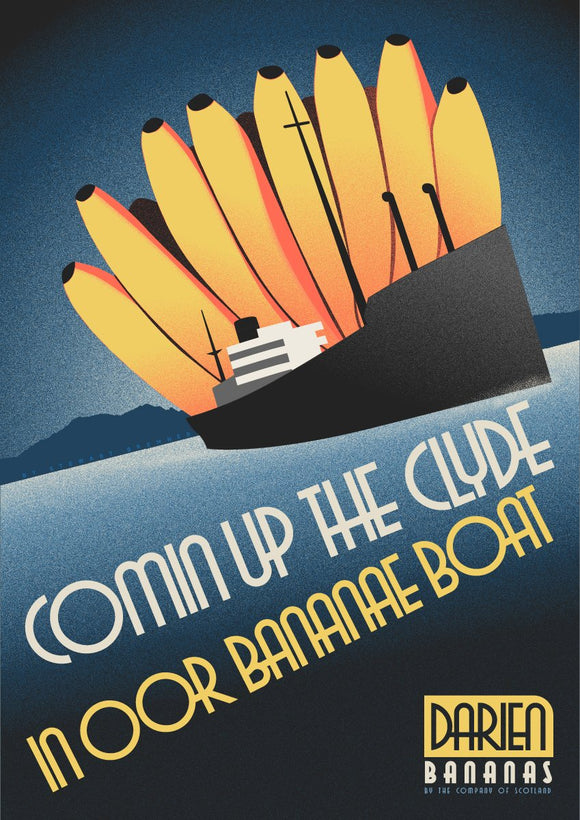 Bananae boats – poster - Indy Prints by Stewart Bremner