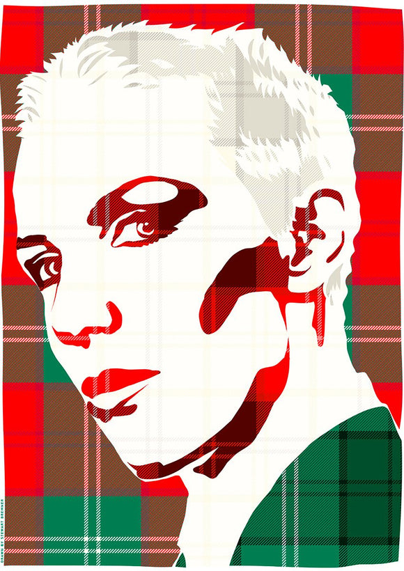 Annie Lennox on Lennox ancient tartan – poster - Indy Prints by Stewart Bremner
