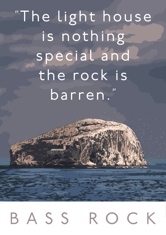 The Bass Rock is barren – giclée print