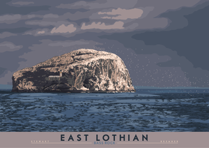 East Lothian: Bass Rock – giclée print - Indy Prints by Stewart Bremner