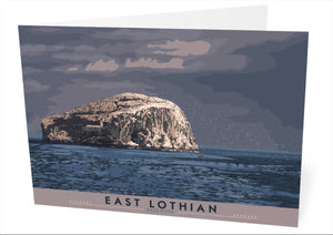 East Lothian: Bass Rock – card - Indy Prints by Stewart Bremner