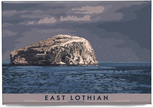 East Lothian: Bass Rock – magnet - Indy Prints by Stewart Bremner