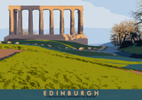 Edinburgh: National Monument – poster - natural - Indy Prints by Stewart Bremner
