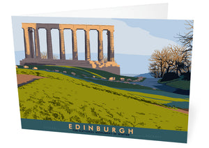 Edinburgh: National Monument – card