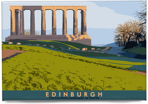 Edinburgh: National Monument – magnet - Indy Prints by Stewart Bremner