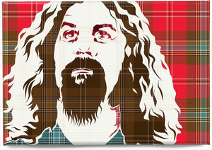 Billy Connolly on MacLean of Duart weathered tartan – magnet - Indy Prints by Stewart Bremner