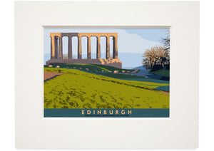 Edinburgh: National Monument – small mounted print - Indy Prints by Stewart Bremner