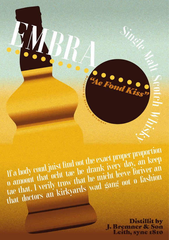 Embra Whisky – poster - Indy Prints by Stewart Bremner
