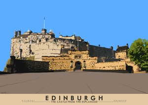 Edinburgh: the Castle from the Esplanade – giclée print - Indy Prints by Stewart Bremner