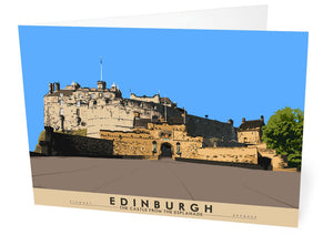 Edinburgh: the Castle from the Esplanade – card - Indy Prints by Stewart Bremner
