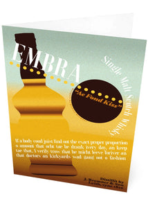 Embra Whisky – card - Indy Prints by Stewart Bremner