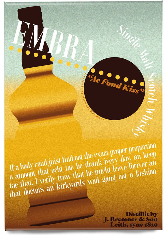 Embra Whisky – magnet - Indy Prints by Stewart Bremner